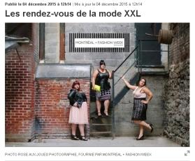 Montreal + Fashion Week - La Presse